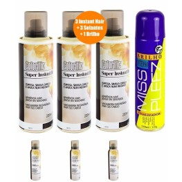 3 Kits Instant Hair Colorific + 3 Selantes + Brilho Intenso